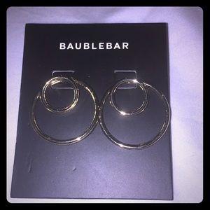 Baublebar gold circle post earrings